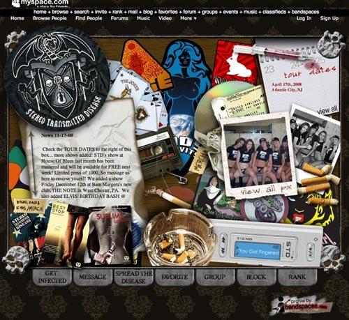 50 สุดยอด MySpace Music Site Designs