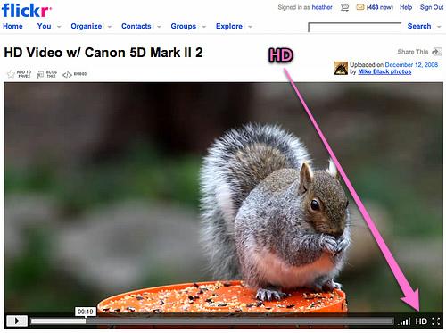 Flickr ออกฟีเจอร์ HD Video