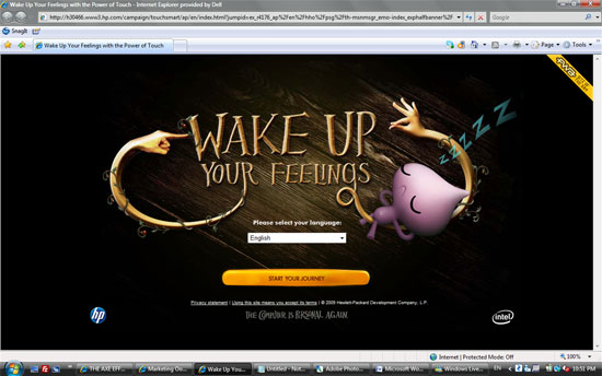 HP Touch Smart 'Wake Up Your Feelings'