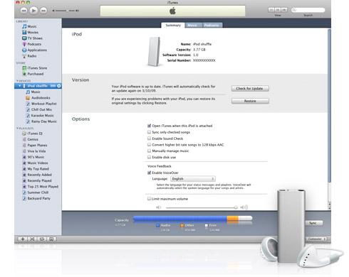 iPod shuffle VoiceOver เครื่องเล่นเพลงที่คุยกับคุณได้