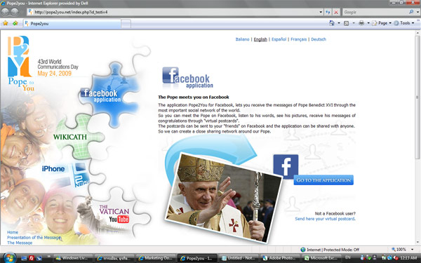 Pope มาไกลถึง Social Media