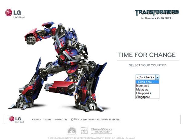 LG + ภาพยนตร์ Transformer เปิดตัว LG Online Campaign