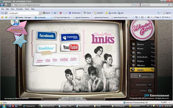 เว็บสุด Cool ของ Wonder Girls