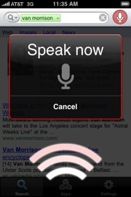 iPhone Voice Search