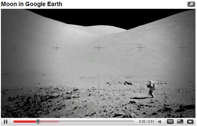 เที่ยวดวงจันทร์ ผ่าน Google Earth
