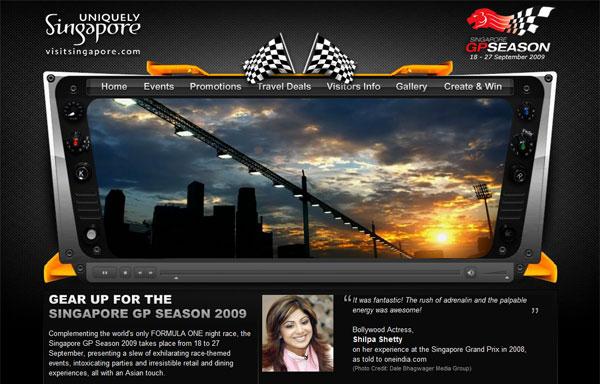 การท่องเที่ยว Singapore เปิดตัว Formula 1 เว็บไซต์