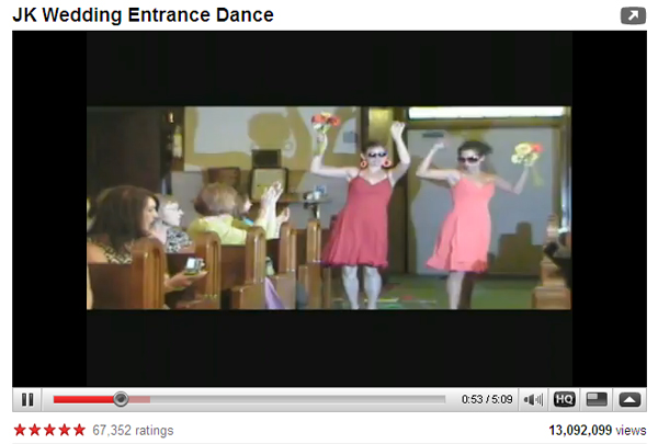 JK Wedding Entrance Dance on Youtube