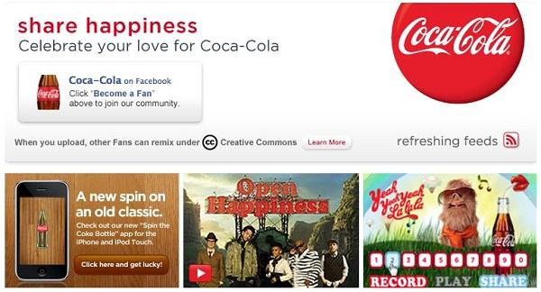 Coke URL (facebook)