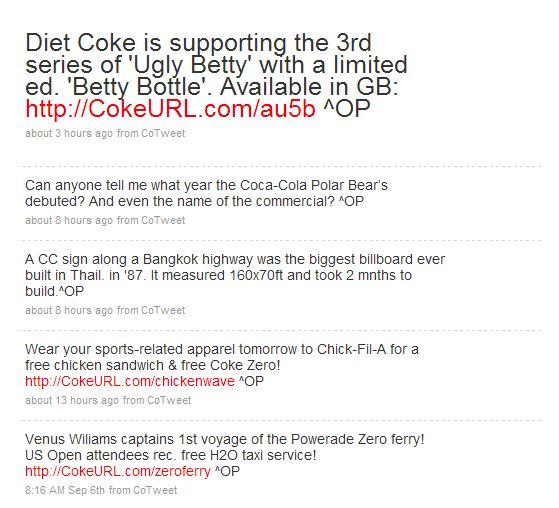 Coke URL Twitter