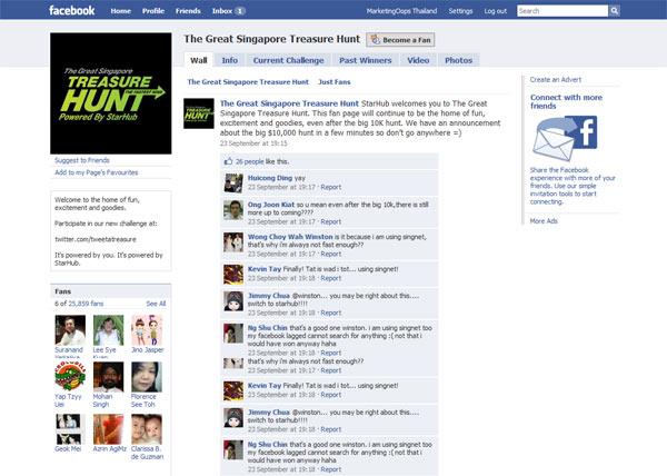 'Great Treasure Hunt' แคมเปญ Successful บน Facebook