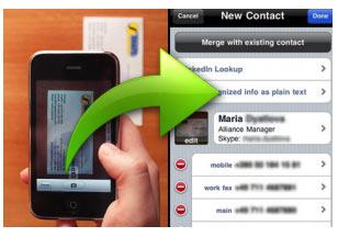 เก็บ Contact นามบัตรเข้า iPhone ผ่าน App ตัวนี้