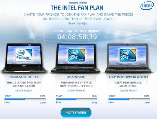 Intel กับโปรโมชั่น Fan Plan บน Facebook Fan Page