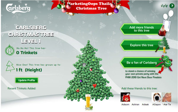 Carlsberg Christmas Tree บน Facebook