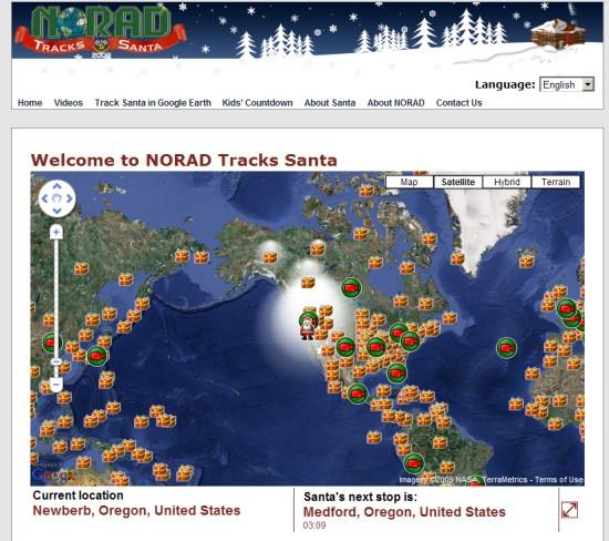 Google ทำเก๋ร่วม Norad ติดตาม Santa