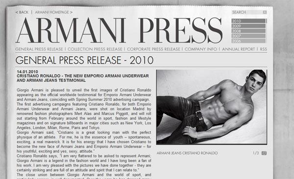 Ronaldo นายแบบ Armani คนใหม่ที่มาแทน Beckham