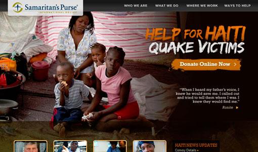 15 เว็บดีไซน์สวยๆ เพื่อช่วยแผ่นดินไหวที่ Haiti