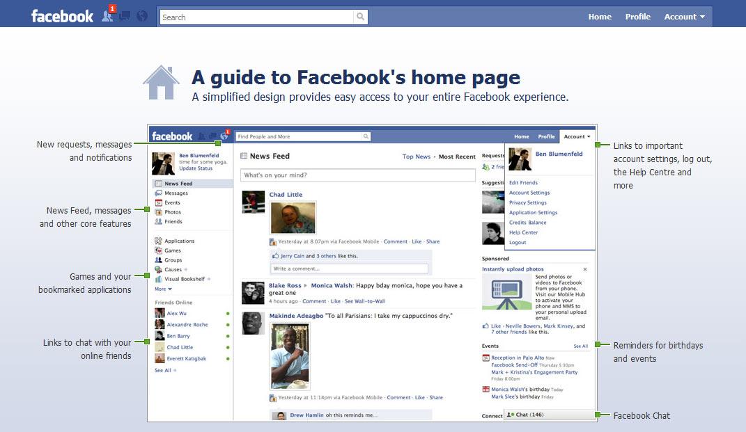 Facebook เริ่มปล่อย New design แล้ว