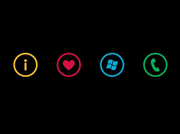 การออกแบบ Windows Phone 7 Series – Metro