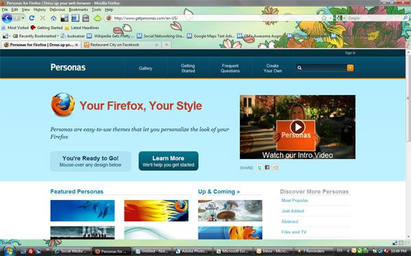 เลือก Theme ตามใจกับ Firefox Personas