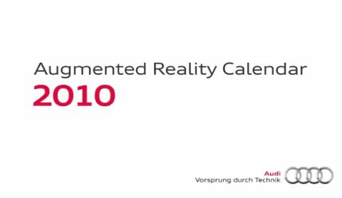 Audi กับปฏิทิน AR (Augmented Reality)
