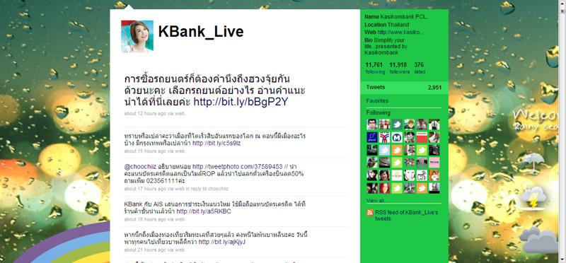 ประเมินการใช้ Facebook และ Twitter: กรณีศึกษา Kbank Live