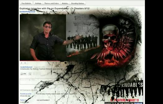 Sylvester Stallone กับ Rich Media บน YouTube