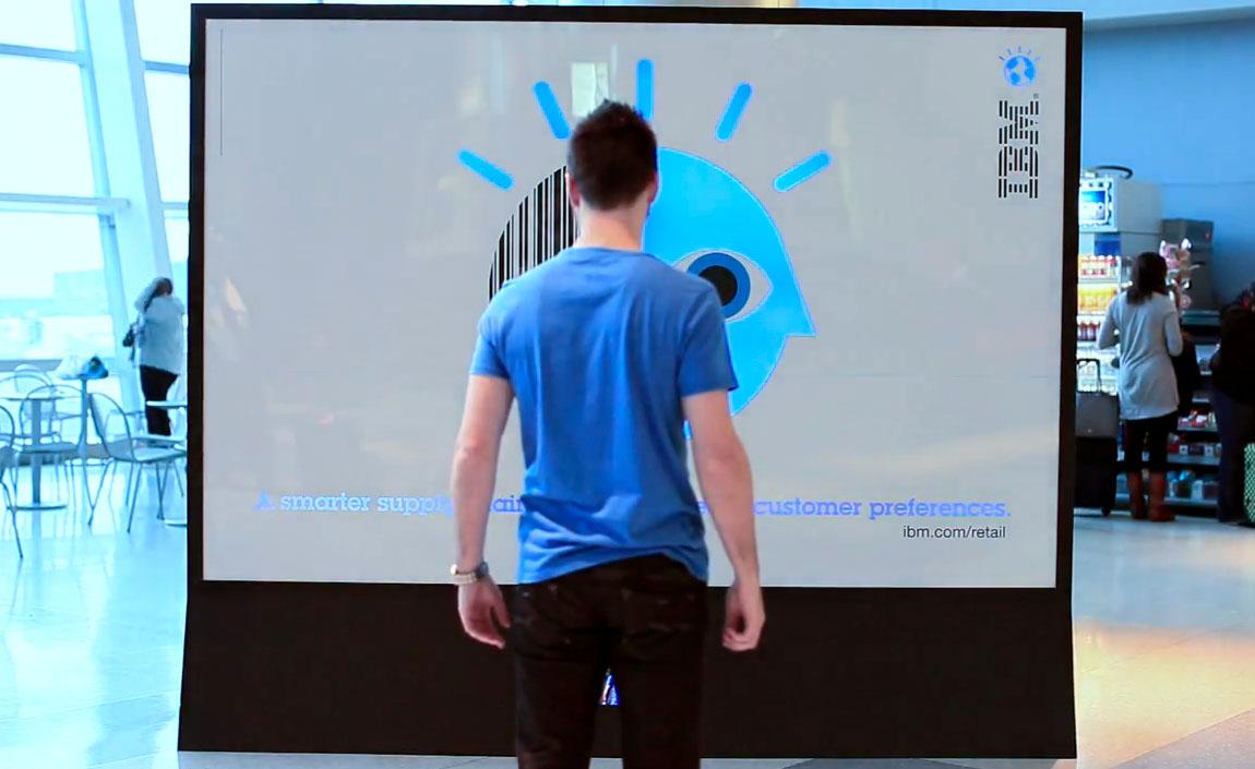 (Interactive) Billboard เปลี่ยนสีของ IBM