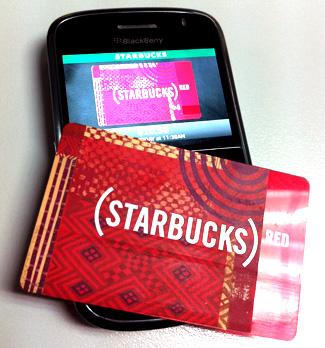 ใช้มือถือซื้อกาแฟด้วย Starbucks Card on Mobile (ในสหรัฐอเมริกา)