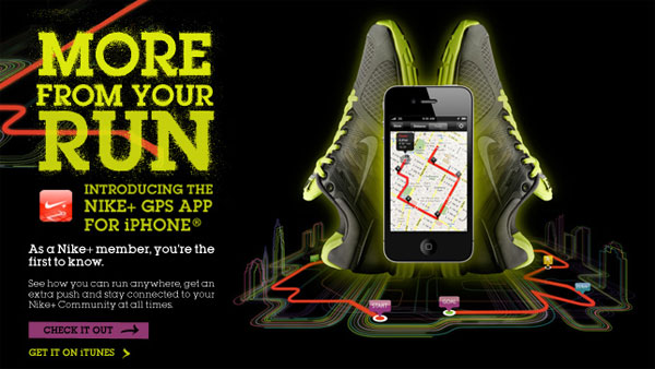 Nike Air – iPhone App + GPS