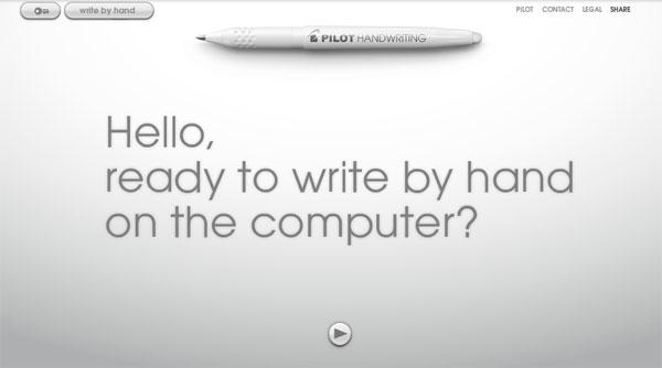 ปากกา Pilot ให้เราออกแบบลายมือบนคอมพิวเตอร์