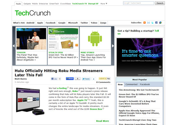 Techcrunch คอนเฟิร์ม AOL ซื้อเว็บไปแล้ว