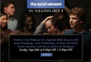ตัวอย่างภาพยนตร์ the social network ฉบับเต็ม เตรียมเข้าฉายเร็วๆ นี้