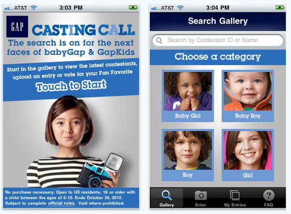 Gap Casting Call 2010 แคมเปญค้นหาโมเดลตัวน้อย