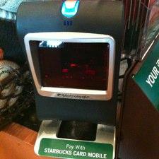 หน้าตาแบบนี้เอง Starbuck Mobile Payment Scanner