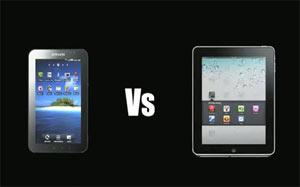 เมื่อ iPad ถูกเปรียบเทียบกับ BlackBerry Playbook และ Galaxy Tab