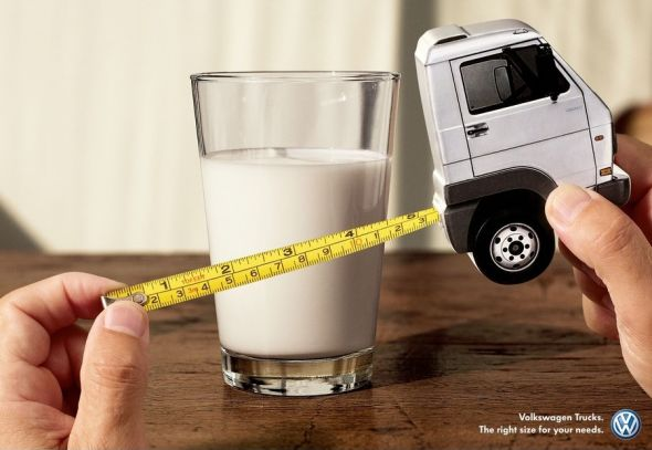 Volkswagen กับไอเดีย Print ad ให้กับรถบรรทุก