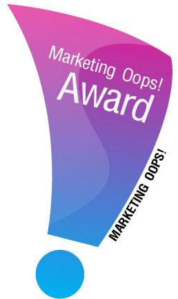 Marketing Oops Award