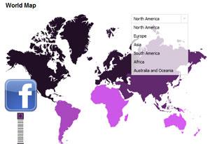 100 อันดับประเทศที่มีสมาชิก Facebook สูงสุด