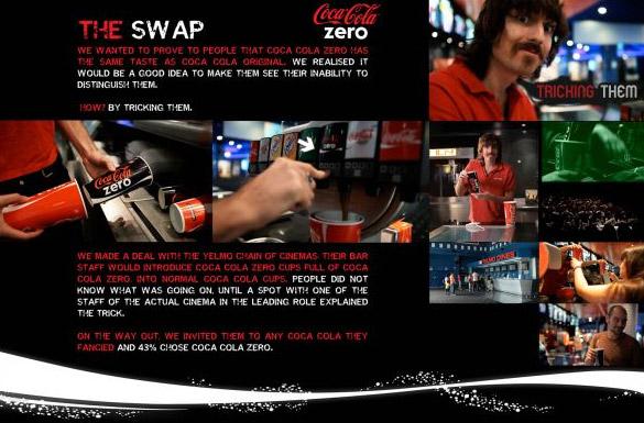 ในเมื่อโฆษณาแล้วคุณไม่เชื่อ Coke zero ขอพิสูจน์ด้วยแคมเปญ The Swap!