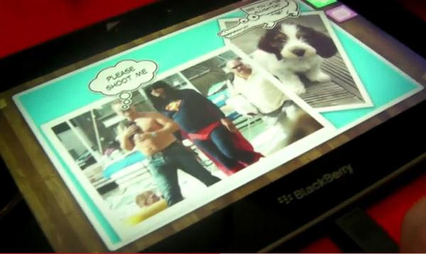 วิดีโอสาธิตการใช้งาน 'Scrapbook' ของ BlackBerry Playbook