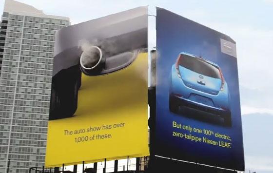 Billboard ที่ตอบโจทย์ให้กับ NISSAN Leaf