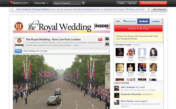 ถ่ายทอดสดแล้ว งานแต่ง Prince William & Kate Middleton