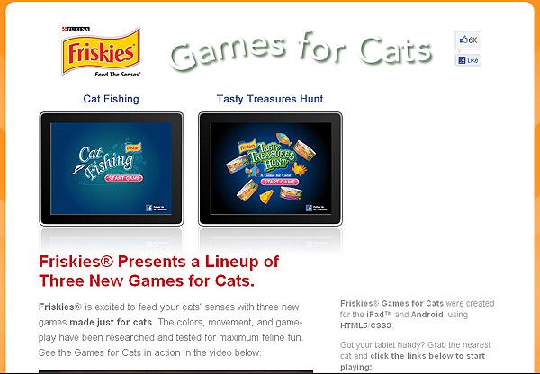 เมื่อแมวเล่นเกมส์บน iPad