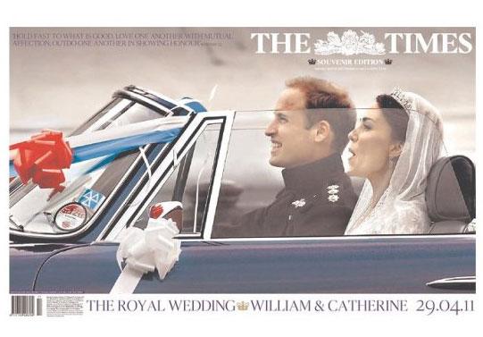 Royal Wedding พาดหัวทุกฉบับ ทุกประเทศ