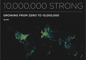จาก 0 ถึง 10,000,000 >> Foursquare
