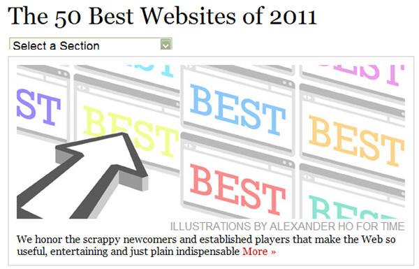 นิตยสารไทม์จัดอันดับสุดยอดเว็บและจอมทวีตประจำปี 2011