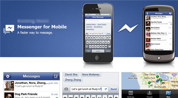 Facebook เปิดตัว Messenger Chat (IM) บนมือถือ