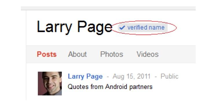 """กูเกิล+ ย้ำต้องใช้ชื่อจริงจึงเพิ่มฟีเจอร์ """"verified name"""""""