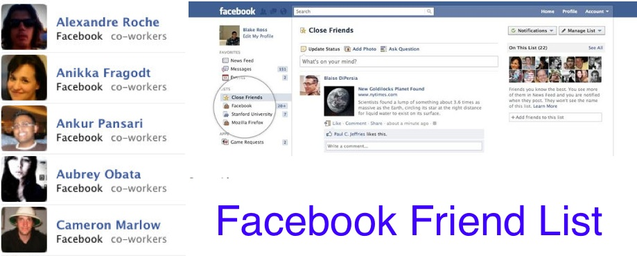 Facebook จัดระเบียบการโพสต์ด้วย Friend Lists