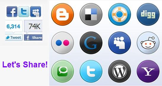 ติดปุ่ม Share ในเว็บไว้ได้ Pageviews เพียบ!